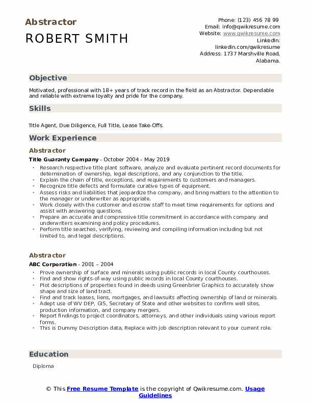 abstractor resume samples qwikresume title sample pdf assistant engineer cours optique Resume Title Abstractor Resume Sample