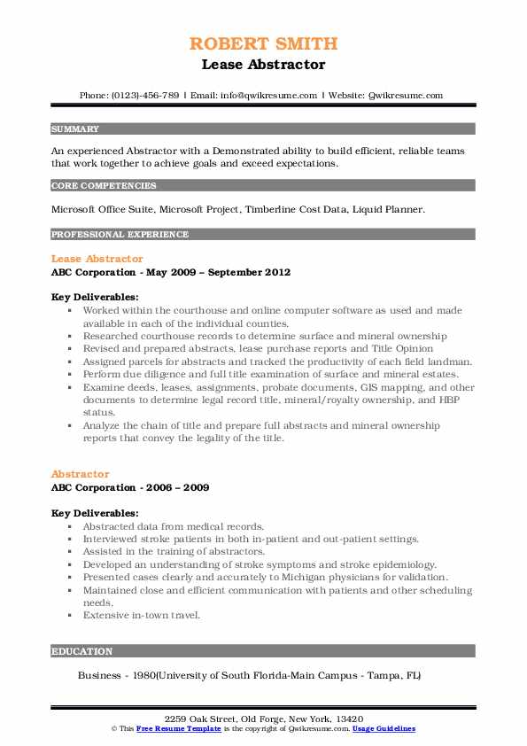 abstractor resume samples qwikresume title sample pdf citrix experience trademark Resume Title Abstractor Resume Sample