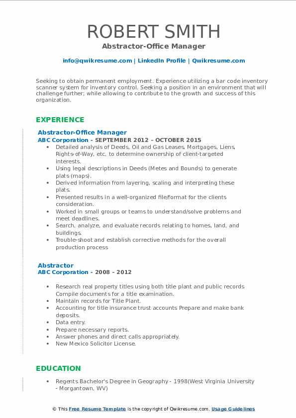 abstractor resume samples qwikresume title sample pdf for freshers non profit job fancy Resume Title Abstractor Resume Sample