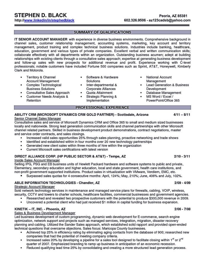 account executive resume is like your weapon to get the job you want related posi Resume Technology Account Manager Resume
