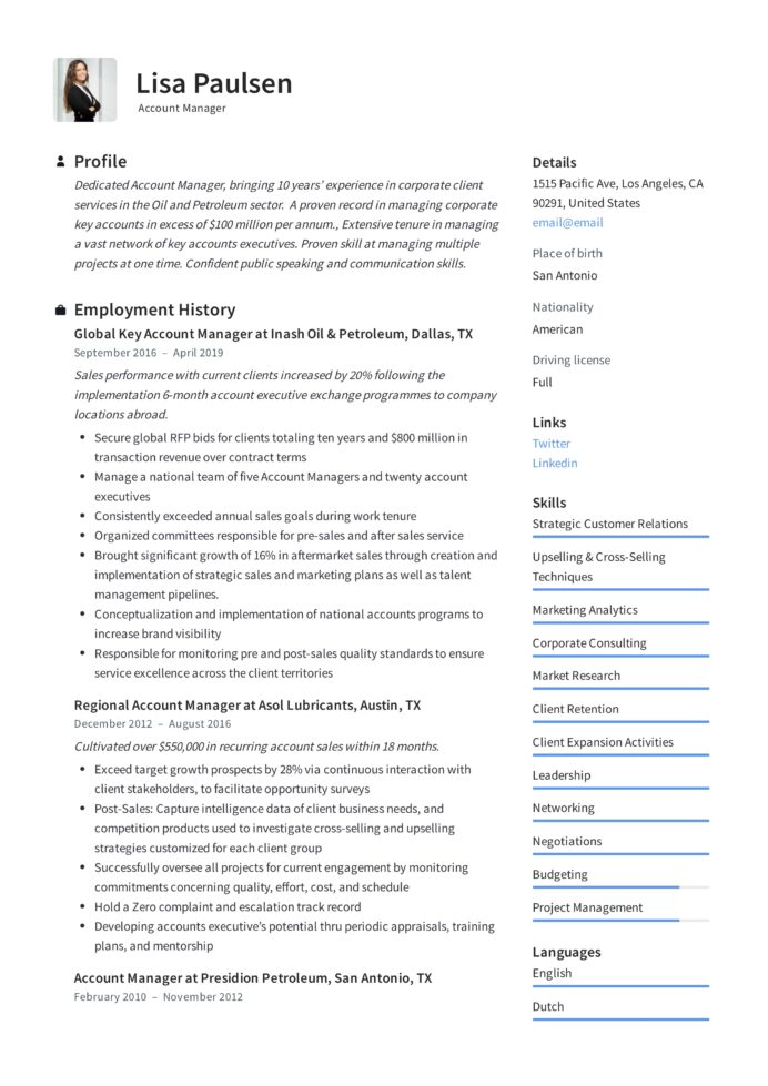 account manager resume writing guide examples technology lisa paulsen prince2 Resume Technology Account Manager Resume