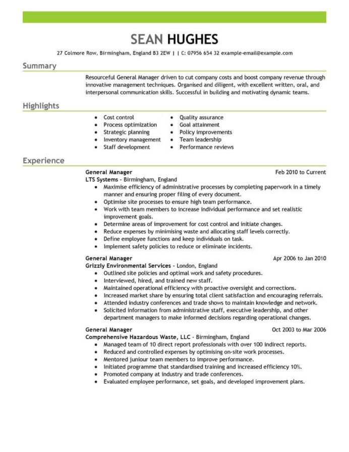 amazing management resume examples livecareer leadership experience general manager Resume Leadership Experience Resume