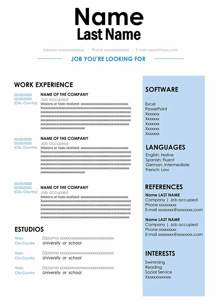cv sample in format for word free resume best document blue collar examples cmc template Resume Best Resume Document Format