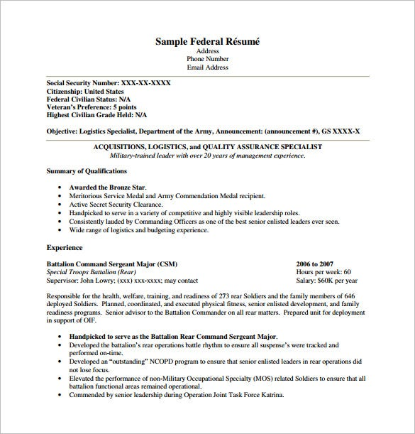 federal resume template free word excel pdf format premium templates noc manager cartel Resume Free Federal Resume Template 2020