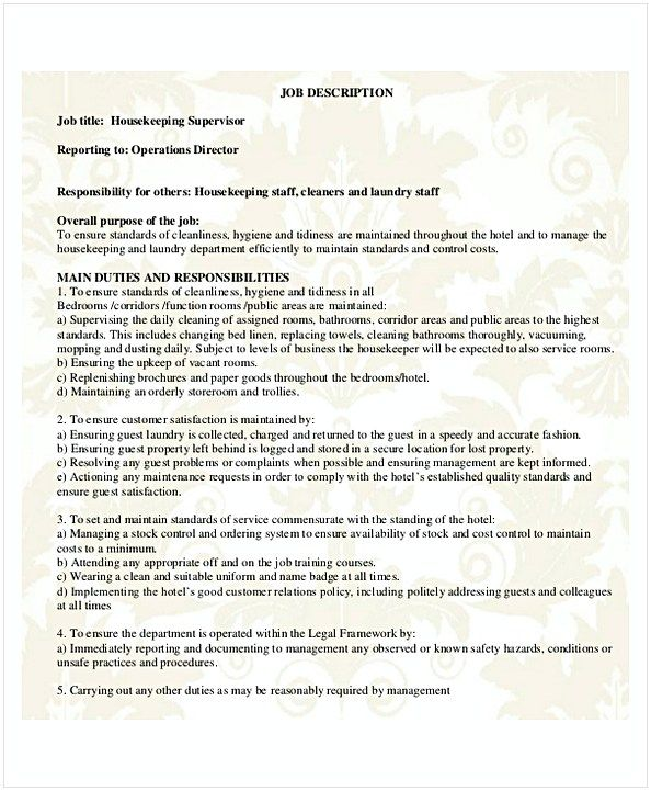 housekeeping supervisor resume hotel and restaurant management being in hospitality both Resume Hotel Housekeeping Supervisor Resume Sample