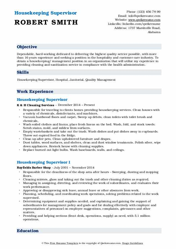 housekeeping supervisor resume samples qwikresume hotel sample pdf qualifications for job Resume Hotel Housekeeping Supervisor Resume Sample