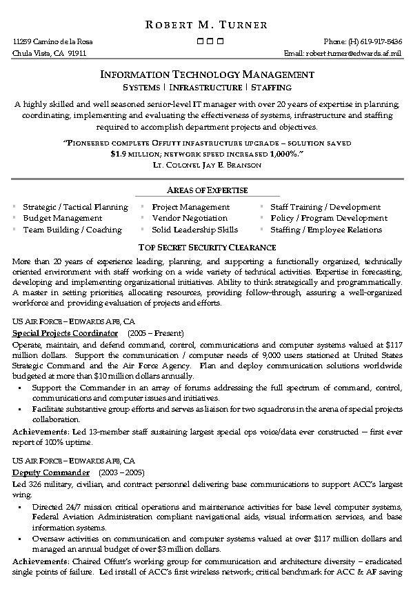information technology management resume example it sample in summary examples software Resume Information Technology Resume Examples 2020
