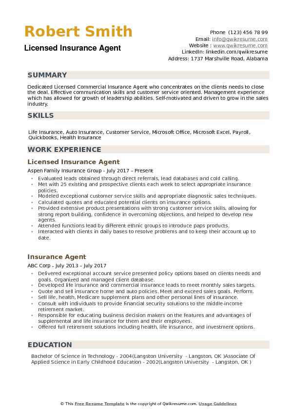 insurance agent resume samples qwikresume licensed health pdf template education emphasis Resume Licensed Health Insurance Agent Resume