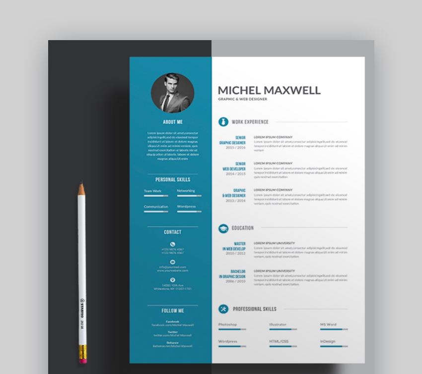 professional ms word resume templates simple cv design formats beautiful template with Resume Beautiful Resume Templates Word