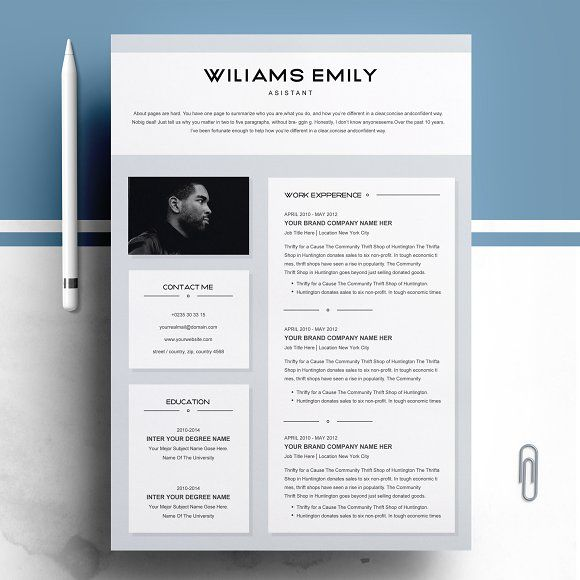 resume templates design template for ms word creativework247 fonts graphics photosho Resume Beautiful Resume Templates Word