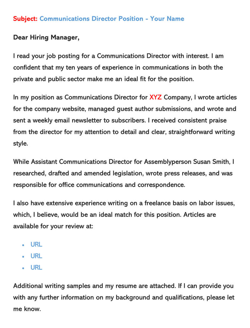 sample email cover letters examples to write and send sending with resume letter for Resume Sending Email With Resume And Cover Letter