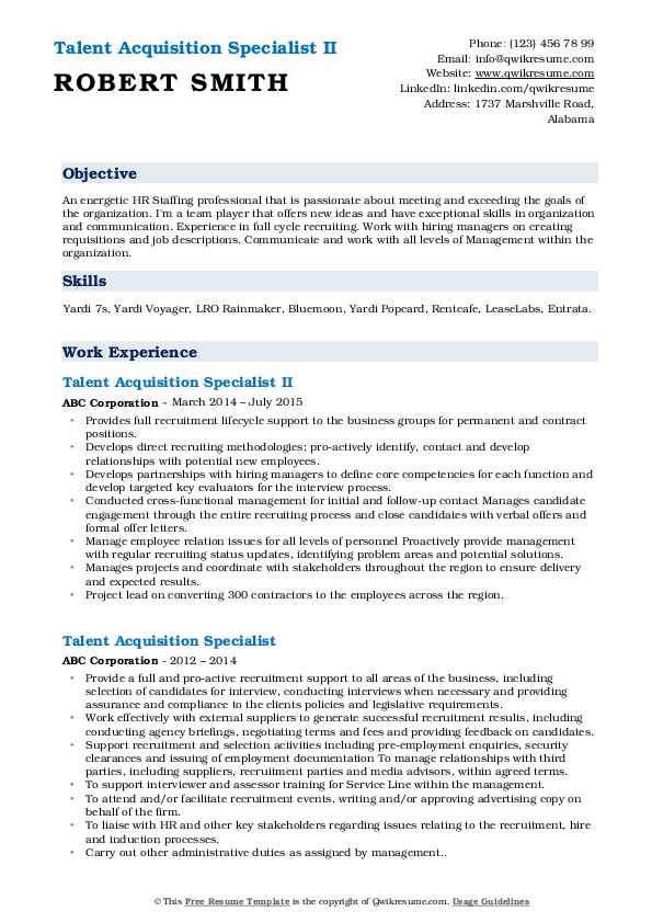 talent acquisition specialist resume samples qwikresume sample pdf latex template Resume Talent Acquisition Specialist Resume Sample