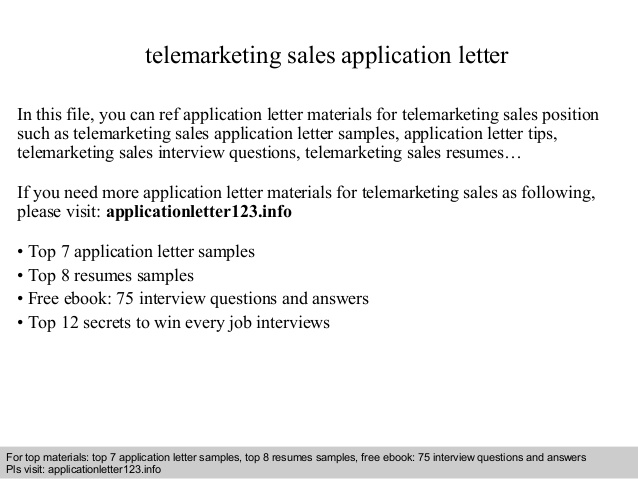 telemarketing application letter telemarketer resume objective writing for lawyers Resume Telemarketer Resume Objective