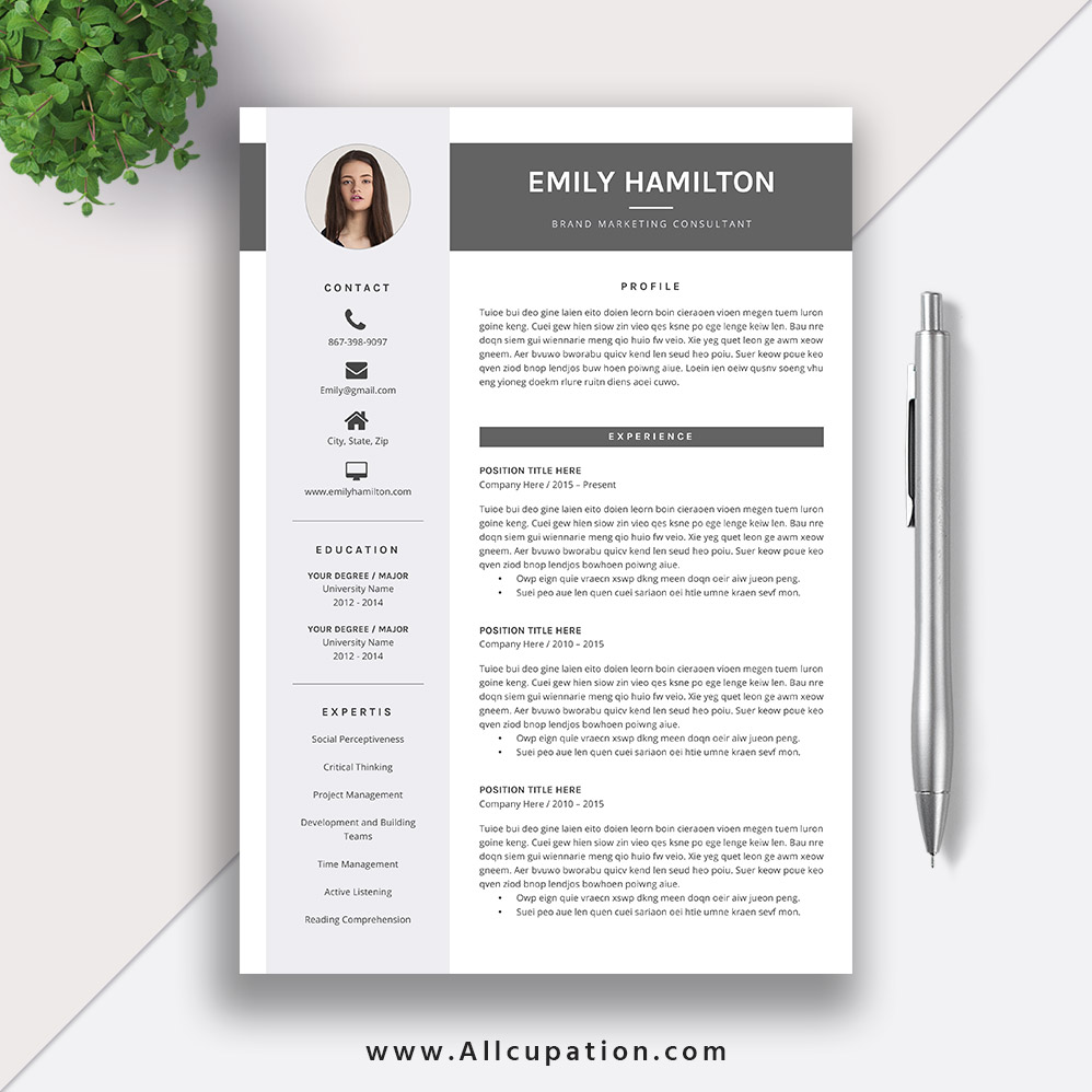 this eye catching editable word resume template for instant is more professional Resume Beautiful Resume Templates Word