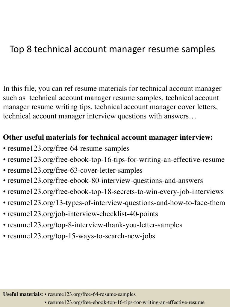 top technical account manager resume samples technology Resume Technology Account Manager Resume