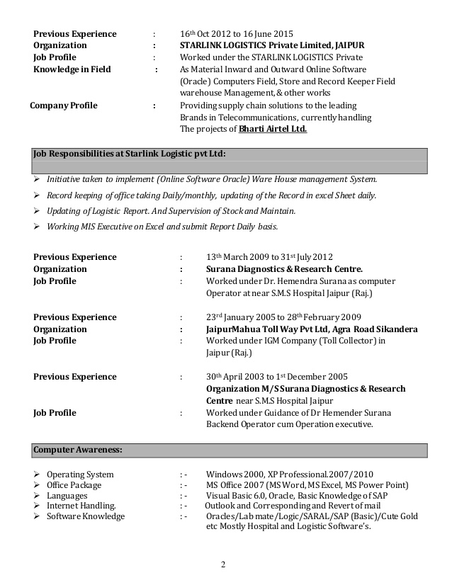 abid ali resume for back office operation executive updated job inexpensive writing Resume Resume For Back Office Job