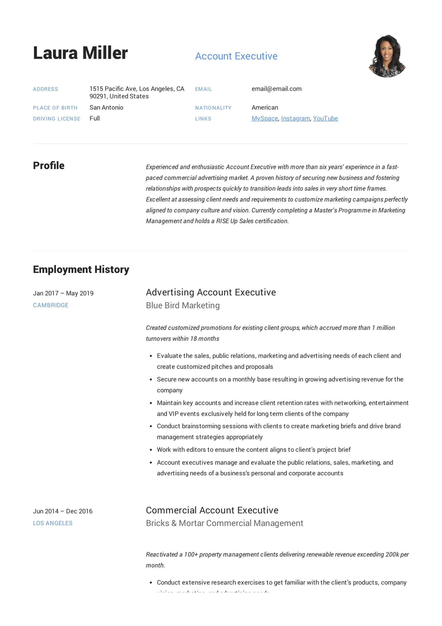 account executive resume writing guide templates pdf format example bar staff creating Resume Account Executive Resume Format Download