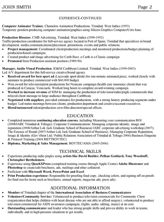 account manager resume sample template radio executive professional advertising p2 with Resume Radio Account Executive Resume