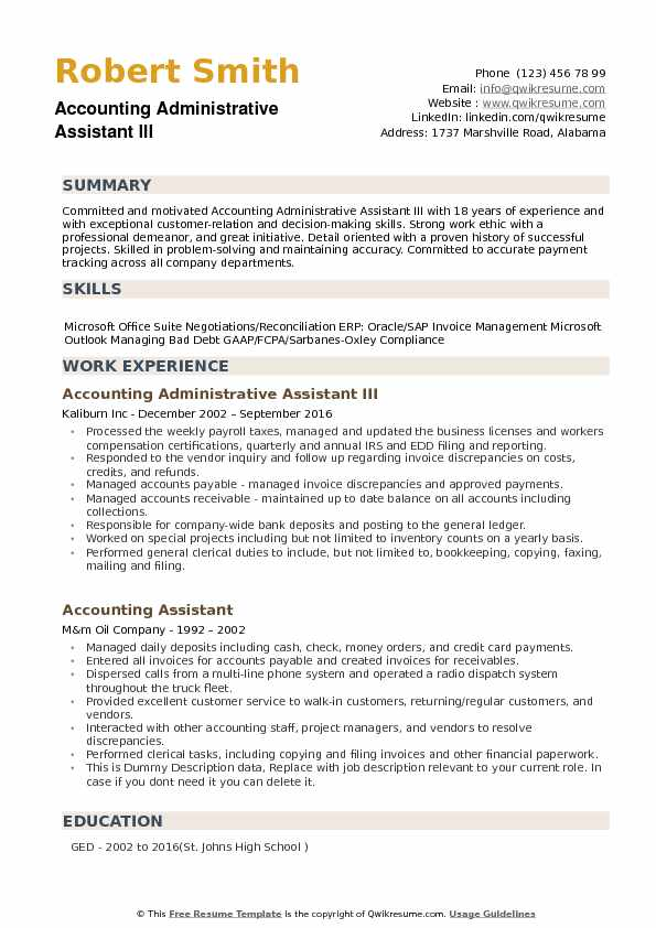 accounting administrative assistant resume samples qwikresume summary pdf insurance agent Resume Administrative Assistant Resume Summary