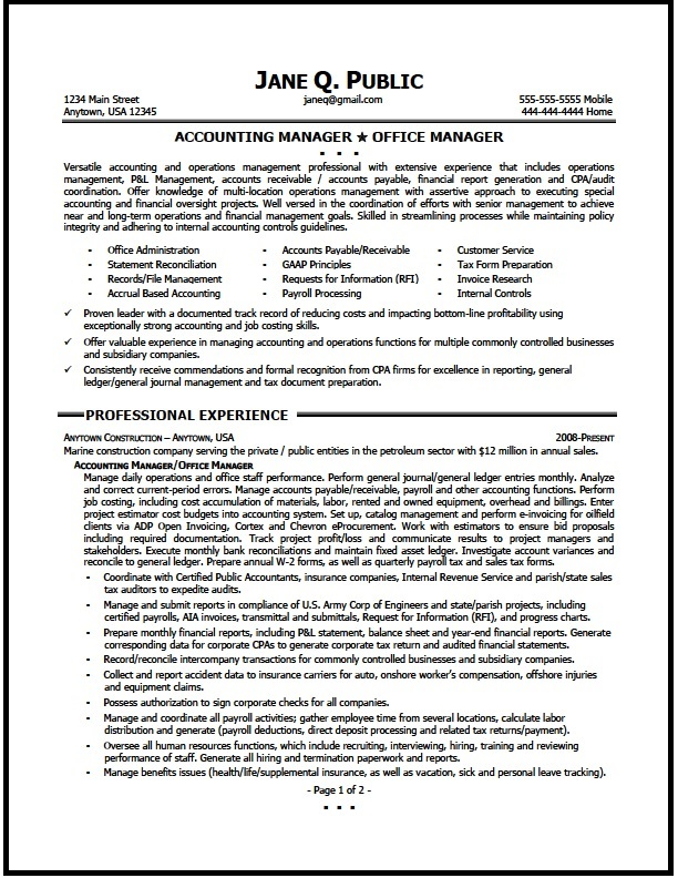 accounting manager resume sample the clinic senior accountant summary for unemployed auto Resume Senior Accountant Accounting Manager Resume