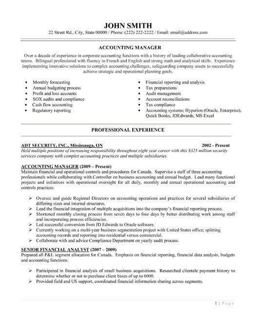 accounting manager resume template premium samples example accountant jobs senior process Resume Senior Accountant Accounting Manager Resume