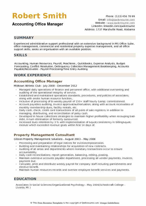 accounting office manager resume samples qwikresume examples pdf medical technician Resume Office Manager Resume Examples 2020