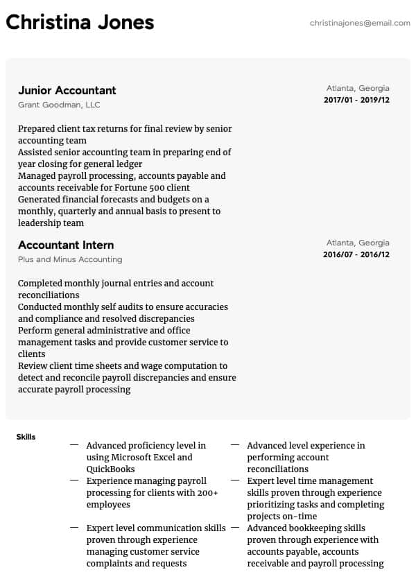 accounting resume samples all experience levels property accountant sample general Resume Property Accountant Resume Sample