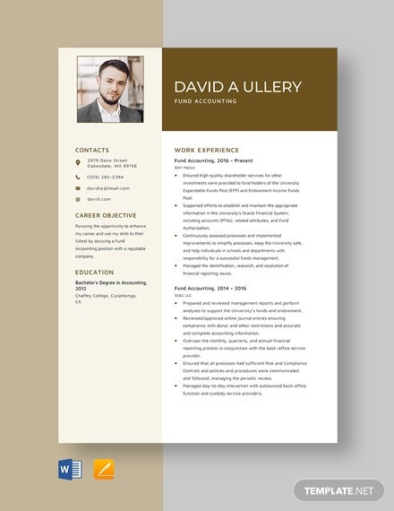 accounting resume templates pdf free premium format sample fund template hvac technician Resume Gulf Resume Format Sample