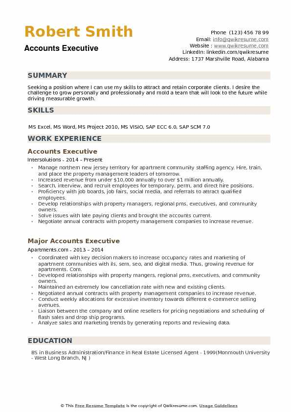 accounts executive resume samples qwikresume account format pdf creating the perfect Resume Account Executive Resume Format Download