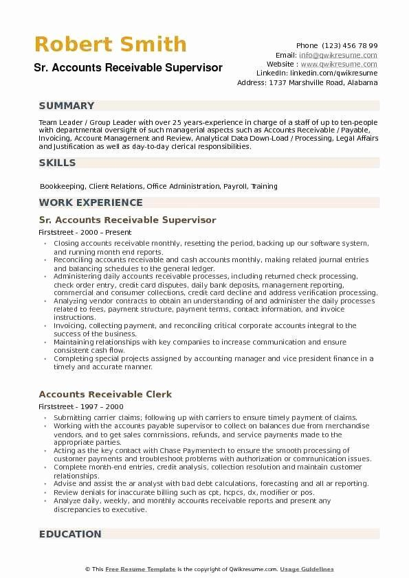 accounts payable and receivable resume beautiful supervisor samples job examples Resume Accounts Receivable Resume Summary Examples