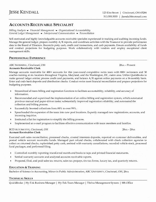 accounts payable and receivable resume inspirational clerk resumes cincinnati examples Resume Accounts Receivable Resume Examples