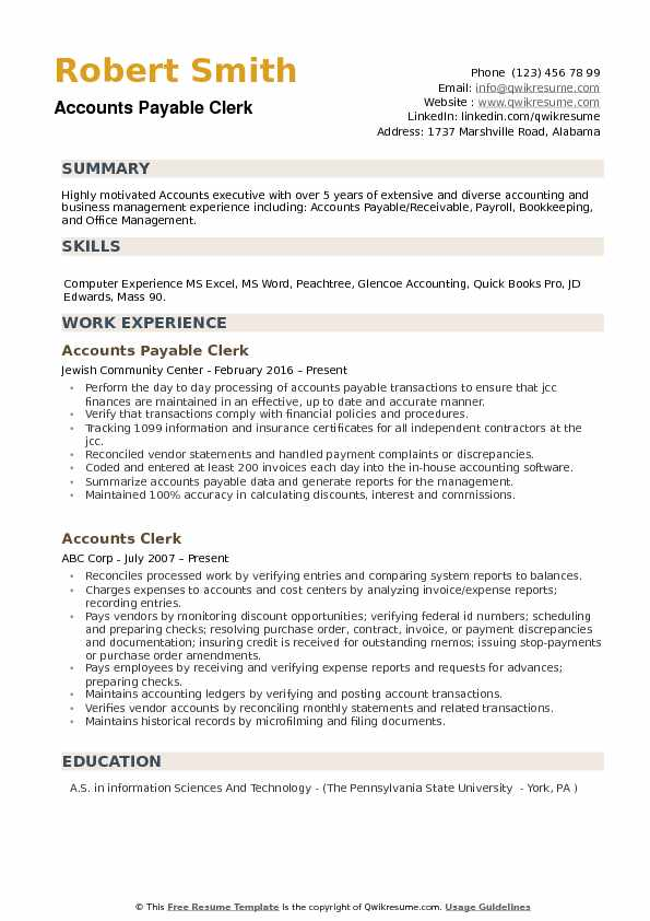 accounts payable clerk resume samples qwikresume duties for pdf android suspend community Resume Accounts Payable Clerk Duties For Resume
