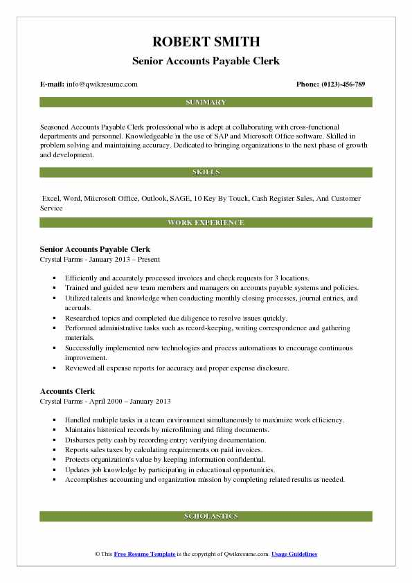 accounts payable clerk resume samples qwikresume duties for pdf home health cna making Resume Accounts Payable Clerk Duties For Resume