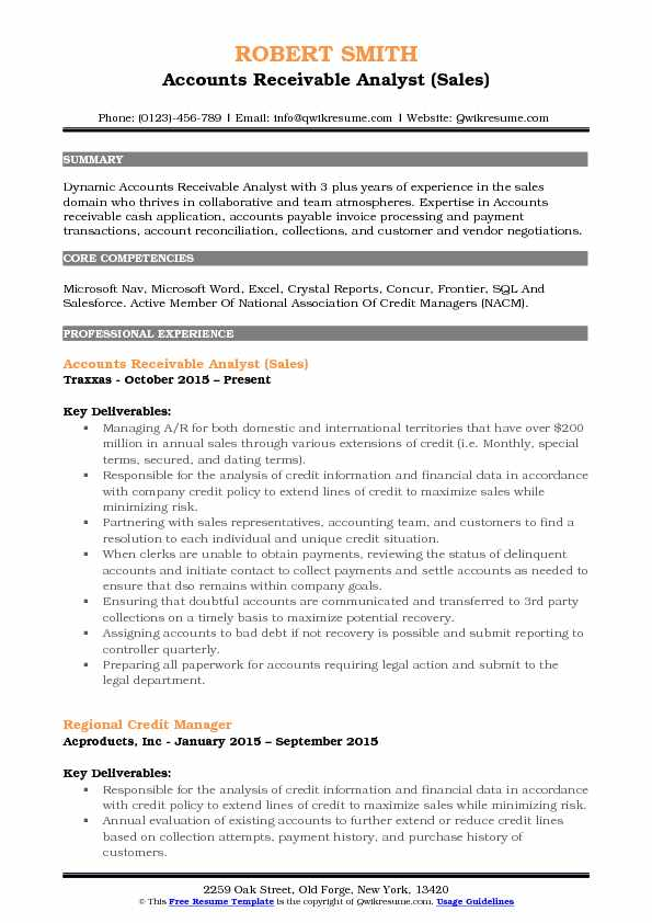 accounts receivable analyst resume samples qwikresume pdf payroll template best style Resume Accounts Receivable Analyst Resume
