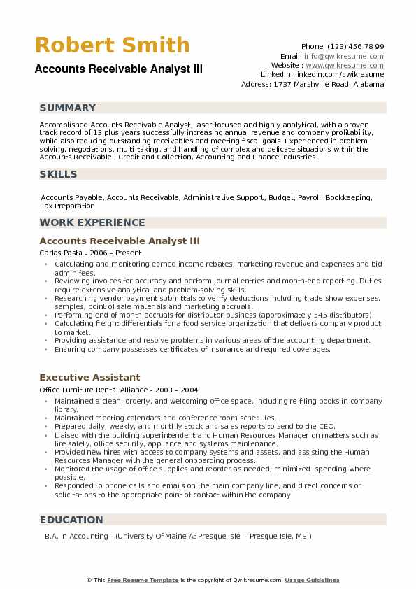 accounts receivable analyst resume samples qwikresume pdf skills for tourism best style Resume Accounts Receivable Analyst Resume