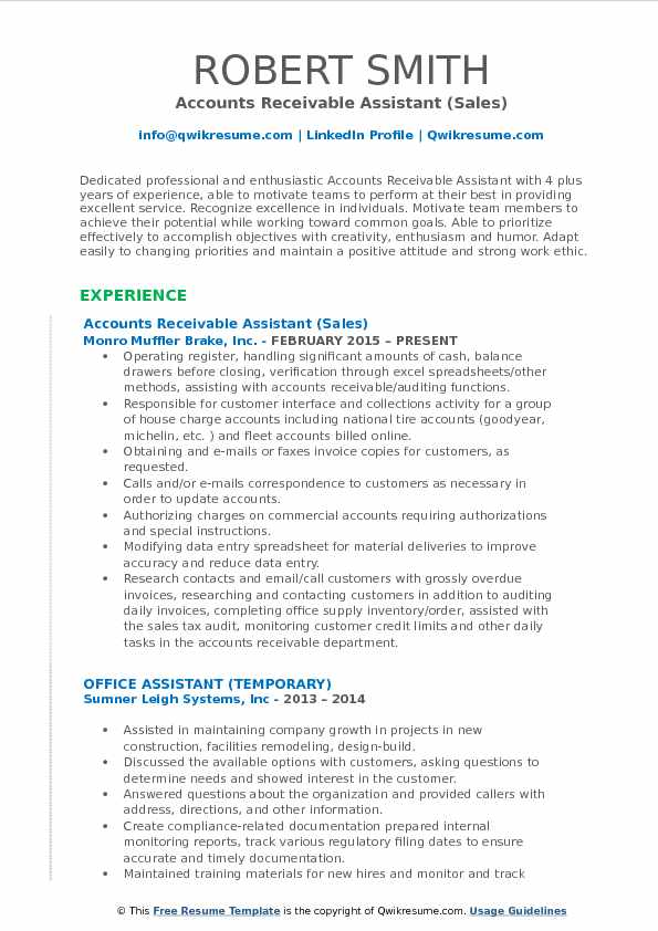 accounts receivable assistant resume samples qwikresume examples pdf syracuse ncaa Resume Accounts Receivable Resume Examples