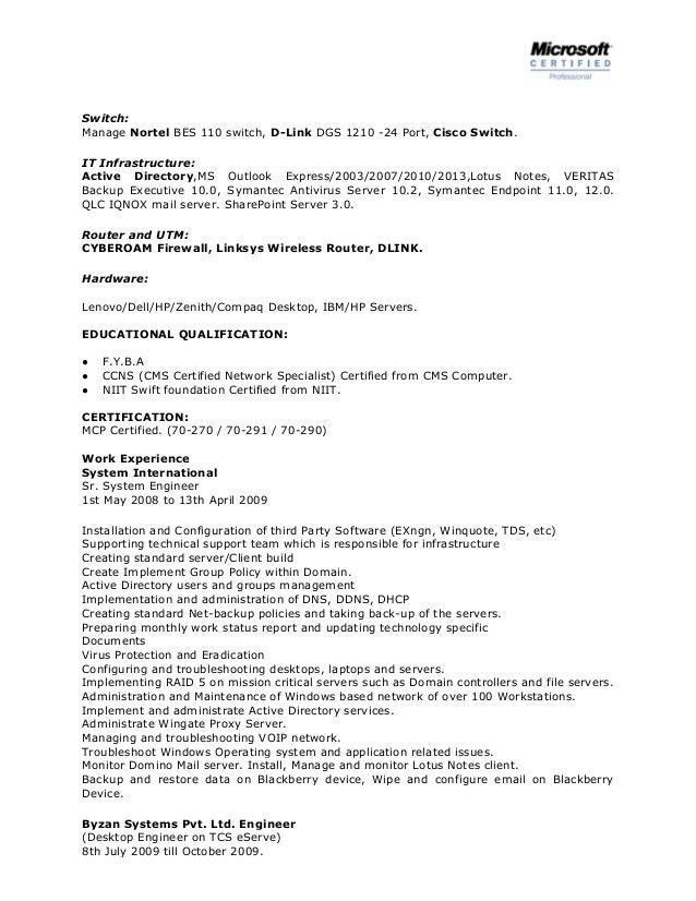 active directory resume network system administrator cv it guide writing research papers Resume Symantec Endpoint Protection Administrator Resume