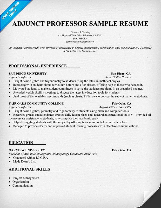 adjunct professor sample resume builder to create new in minutes click now teaching Resume Adjunct Professor Resume Sample
