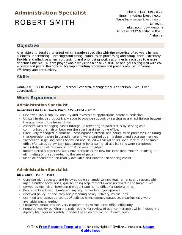 administration specialist resume samples qwikresume administrative sample pdf boosters Resume Administrative Specialist Resume Sample