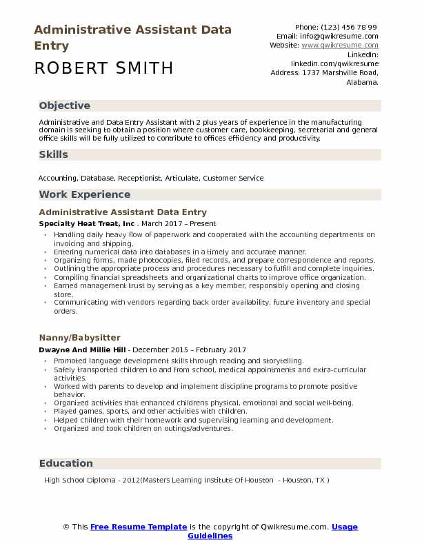 administrative assistant data entry resume samples qwikresume objective for an pdf Resume Resume Objective For An Administrative Assistant