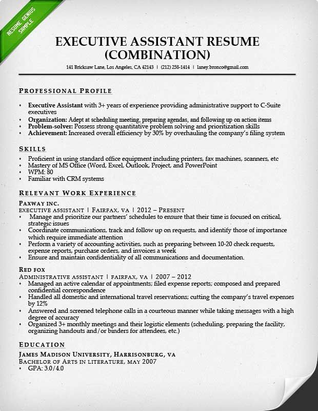 administrative assistant resume sample genius templates examples functional template for Resume Functional Resume Template For Administrative Assistant
