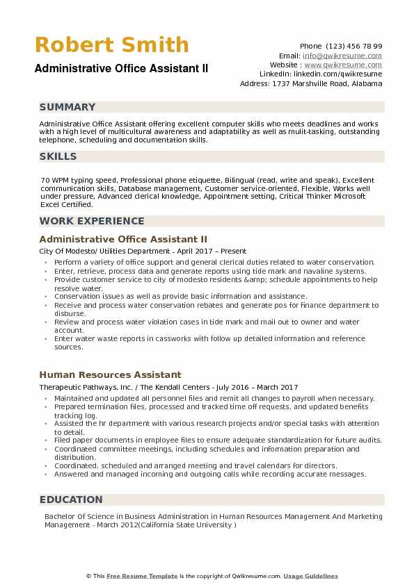 administrative office assistant resume samples qwikresume examples pdf sample for Resume Office Assistant Resume Examples