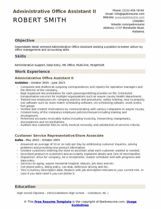 administrative office assistant resume samples qwikresume title for pdf basic objective Resume Resume Title For Administrative Assistant