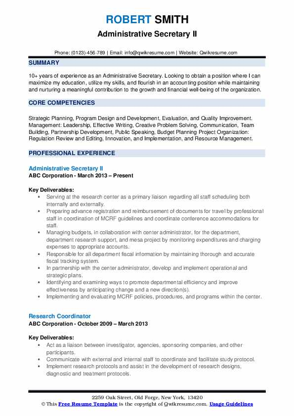 administrative secretary resume samples qwikresume pdf office management duties for molly Resume Administrative Secretary Resume
