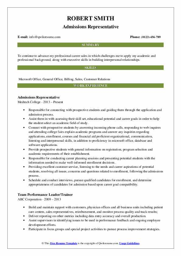 admissions representative resume samples qwikresume for college admission pdf campaign Resume Resume For College Admission