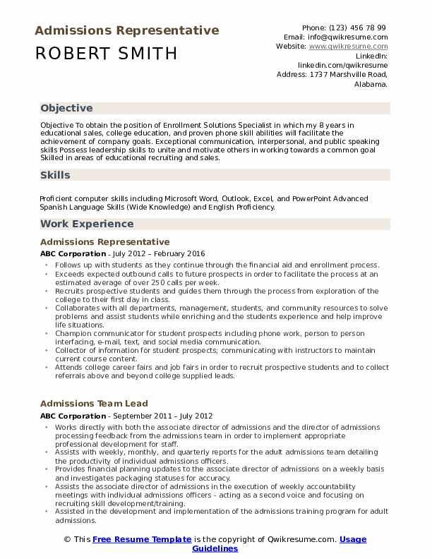 admissions representative resume samples qwikresume for college admission pdf should you Resume Resume For College Admission