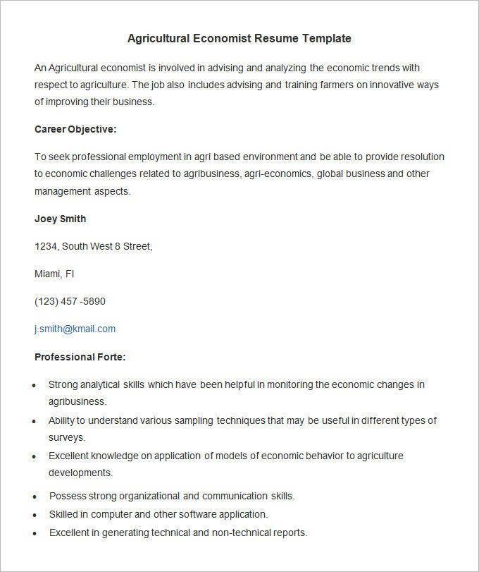 agriculture resume templates pdf free premium for economics freshers agricultural Resume Resume For Economics Freshers