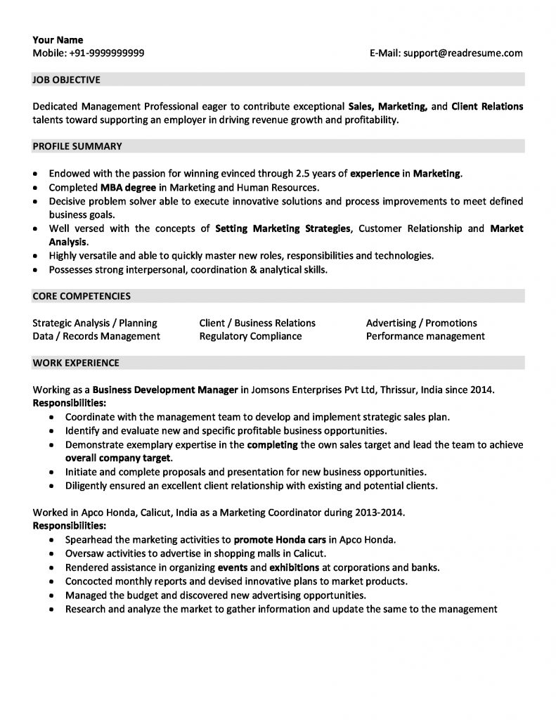 and marketing resume sample for years experience of on 791x1024 administrative supervisor Resume Years Of Experience On Resume