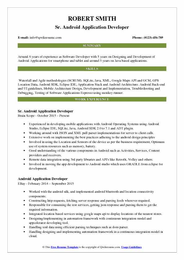 android application developer resume samples qwikresume headline for software fresher pdf Resume Resume Headline For Software Developer Fresher