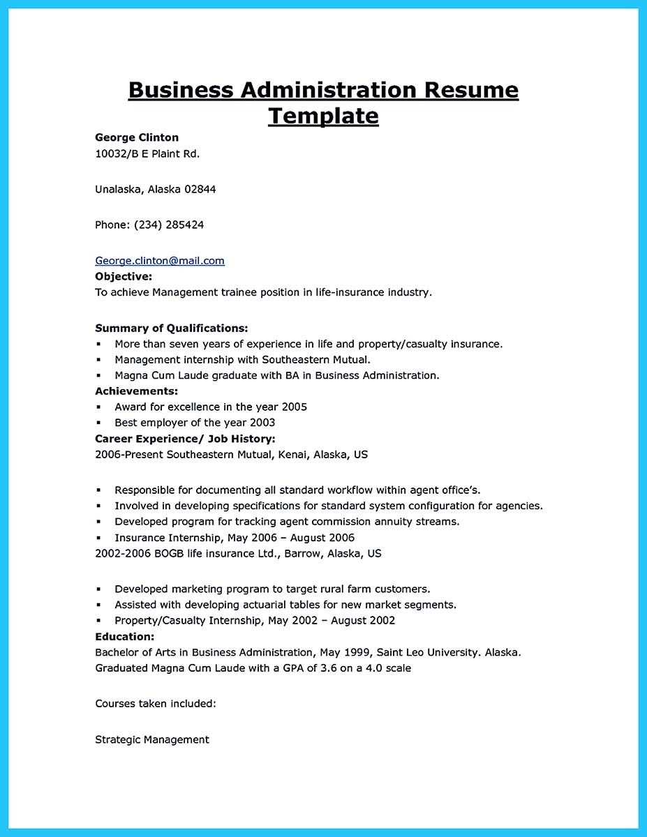 appealing formula for wonderful business administration resume position best security Resume Resume For Business Administration Position